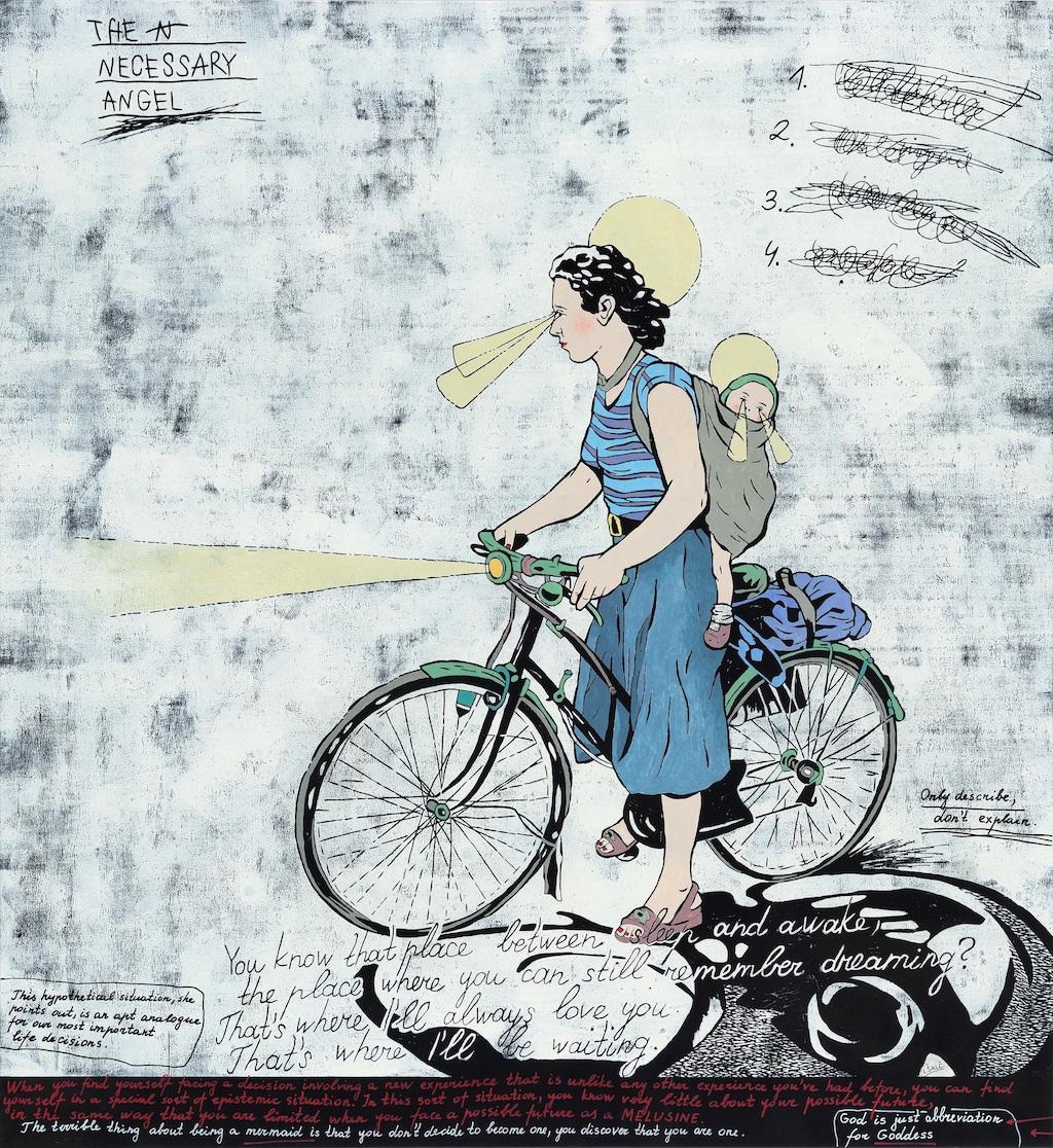 13. Laisvyde Salciute. The Necessary Angel, 2018, oil, acrylic, canvas, 162x150 cm. Contour Art Gallery.