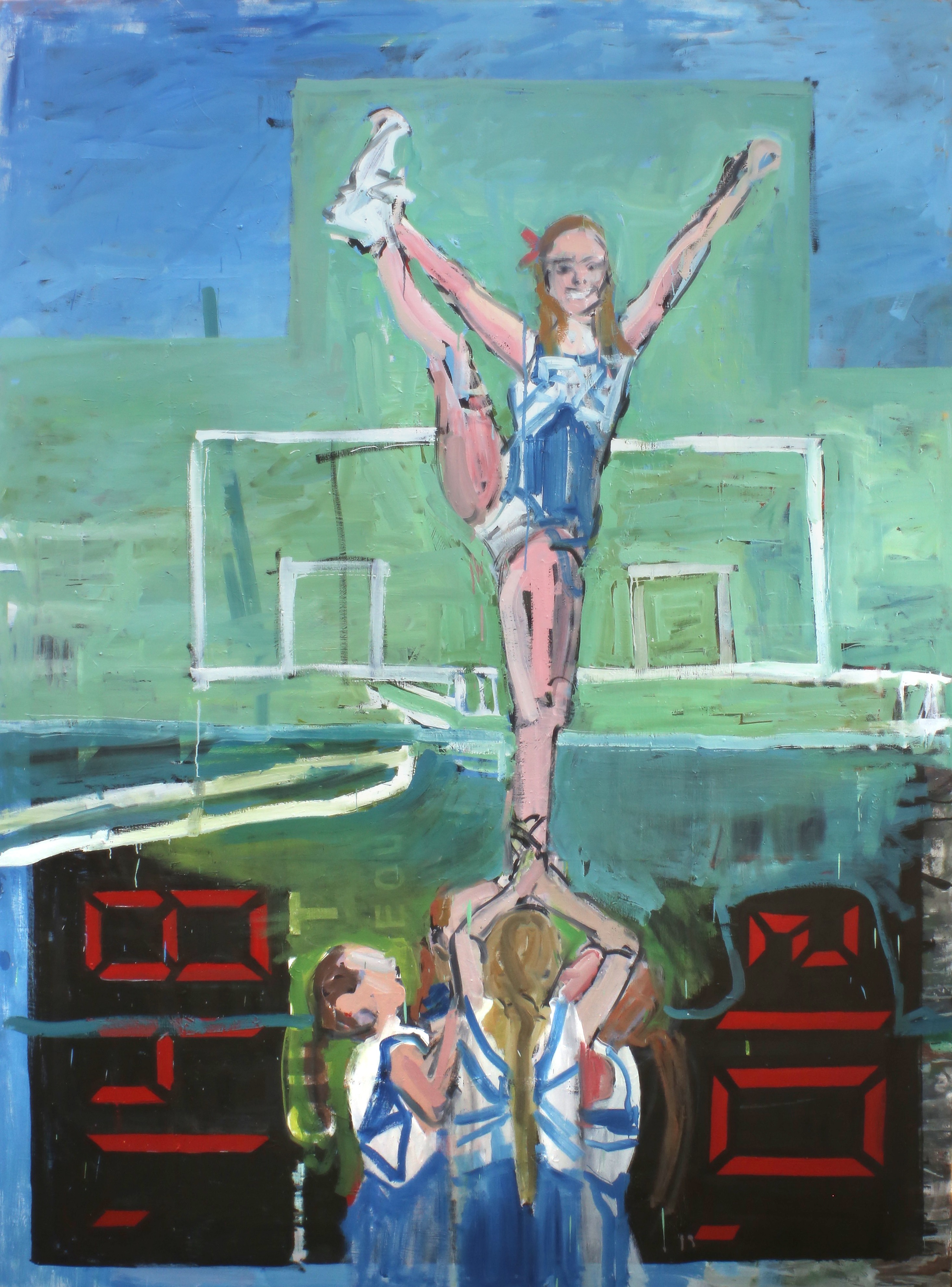 Eglė Butkutė. Žvaigždė. A star. Aliejus, drobė. Oil on canvas. 200 x 180, 2016