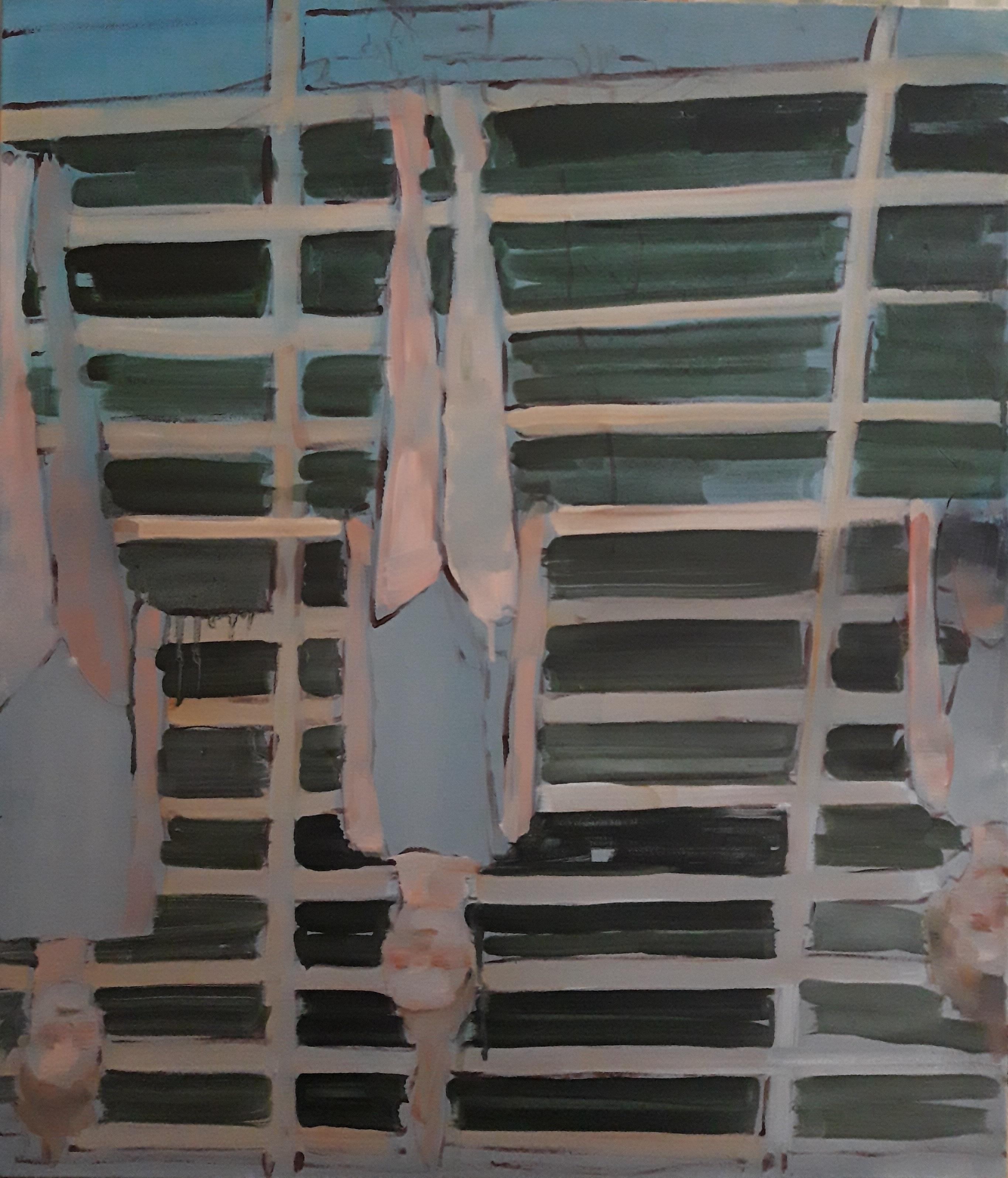 Eglė Butkutė. Aukšyn kojom. Topsy-turvy. Aliejus drobė. Oil on canvas.