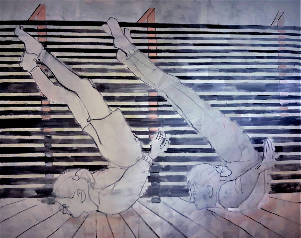 Eglė Butkutė. Gulbės. Swans. Aliejus, drobė. Oil on canvas. 170x195 cm, 2019