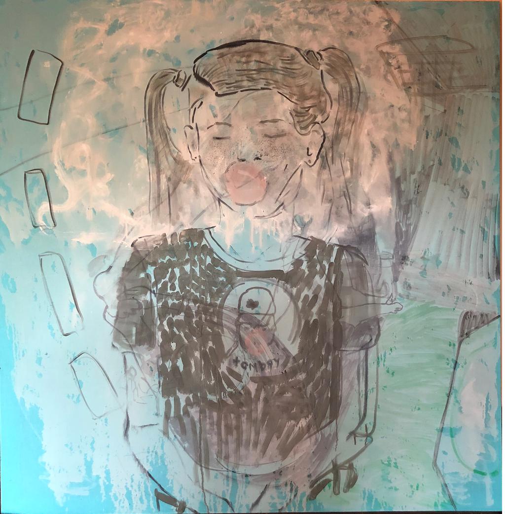 Eglė Butkute Tomboy. Aliejus drobė. Oil on canvas. 146x146 cm. 2019