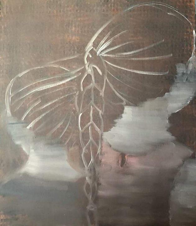 Kasytė. Braided. Oil on canvas. Drobė, aliejus. 70x60 cm 2019