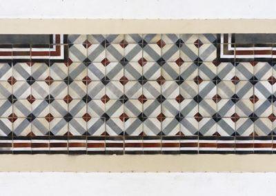Kultūringos grindys. Bordo kryžiai, Pamėnkalnio g. 23/Aukų g, 2016