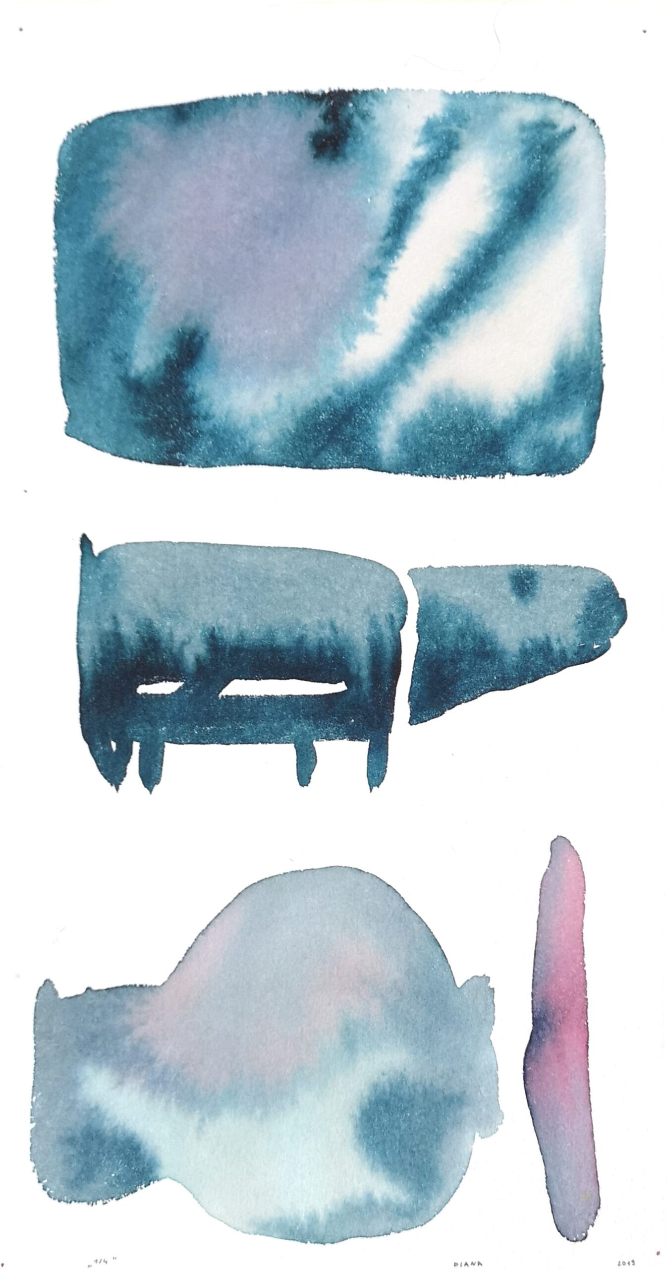 Games of The Minute. 1 out 4 watercolor. 37x19,5cm. 2019