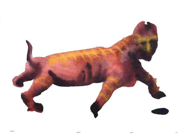 Creature. Watercolor on print paper. 28x38cm. 2020