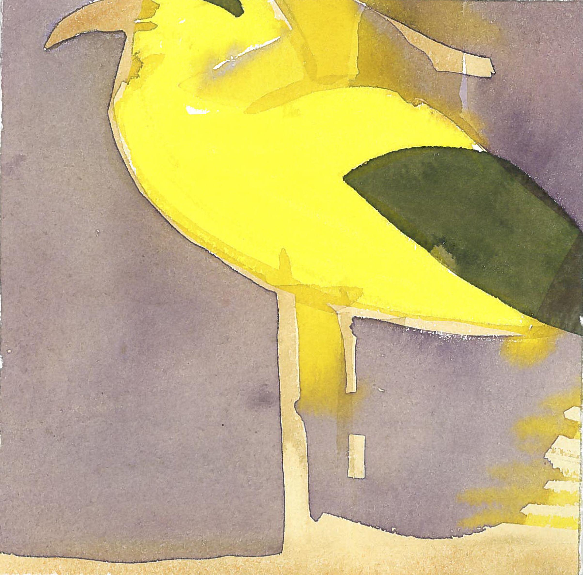 According to Romain Gary King Solomon. Watercolor on print paper 15x21cm. 2017