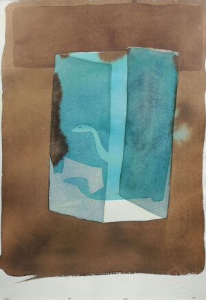 According to Romain Gary Cute. Boa. Watercolor on print paper.39,5x27,5cm 2017
