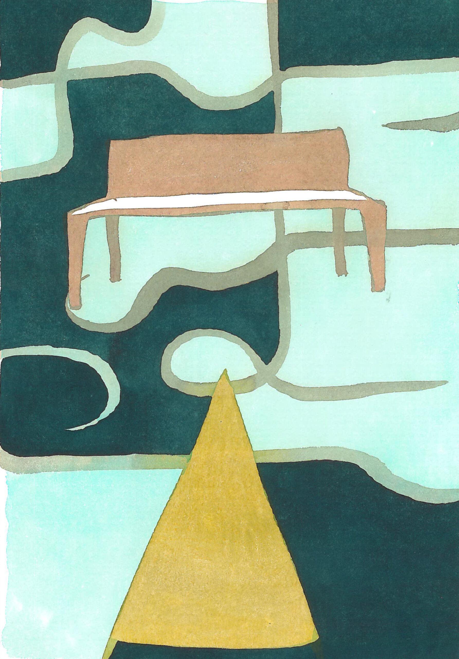 According to Romain Gary Cute. Boa. Watercolor on print paper. 39x27,5cm 2017