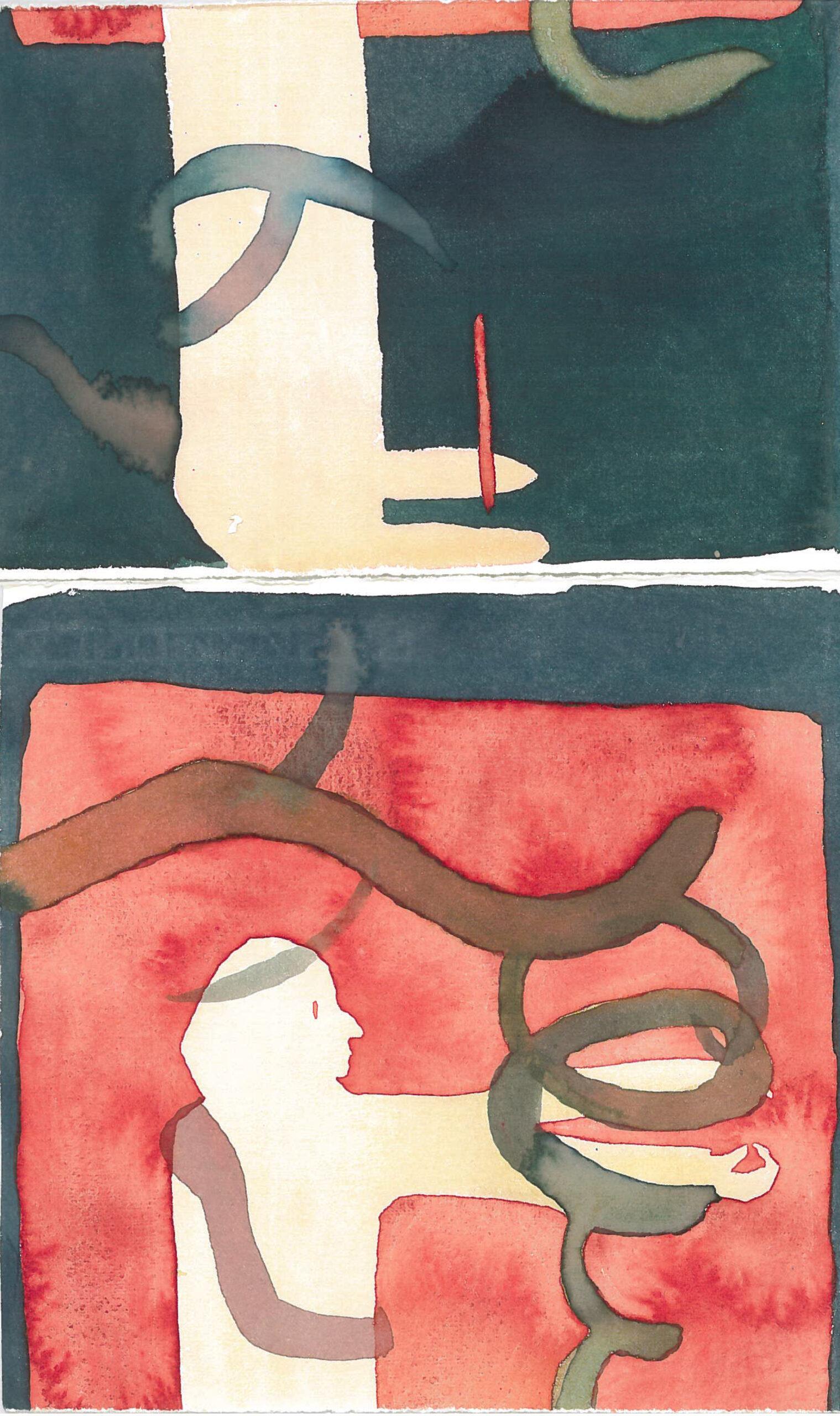 Pagal Romain Gary Cute. Part1 and 2. Watercolor on print paper 23x23,5cm 2017