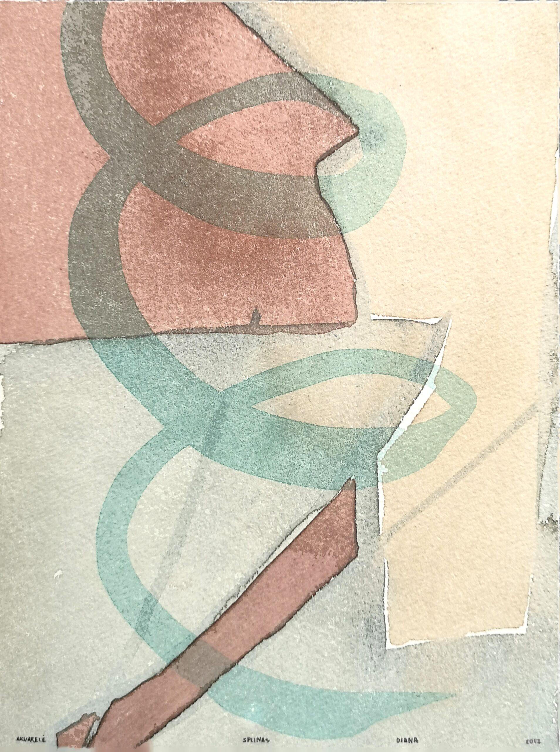 Covers.Charles Baudelaire Paris Split. Watercolor on print paper.20,5x15,5cm. 2017